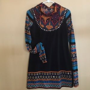 Tops - Black dress or Tunic with sequence